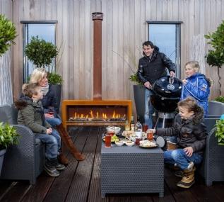 Faber Mood freestanding outdoor fire