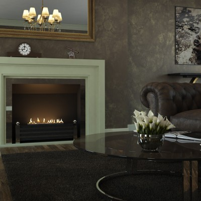 Ryall fireplace with Spartherm fire