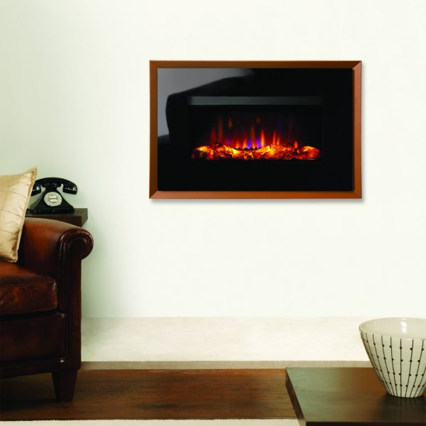 Gazco Riva2 670 Electric Evoke Glass in Metallic Bronze