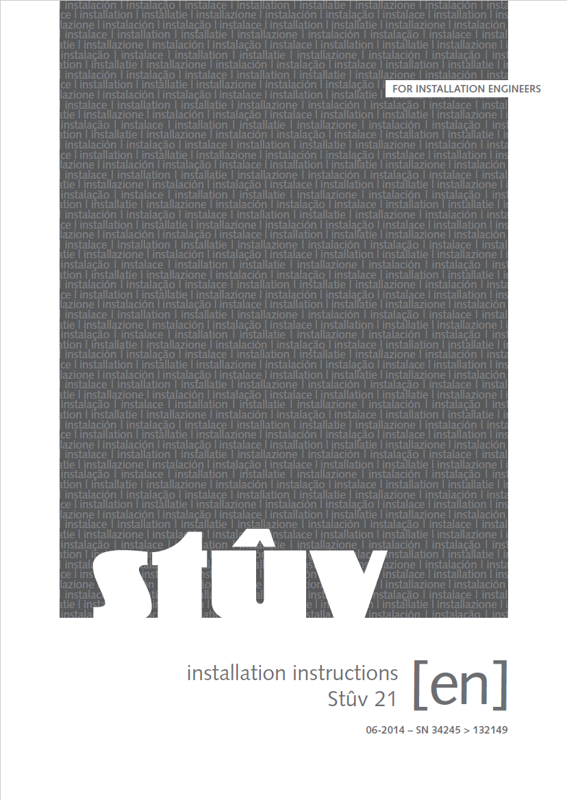 Stuv 21 installation instructions