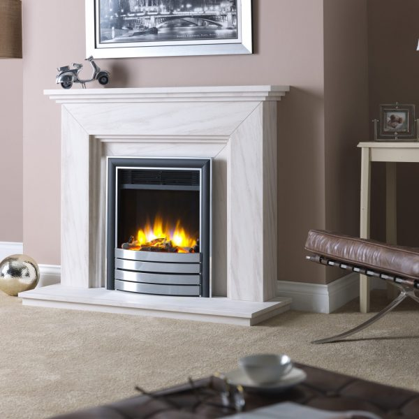 Paragon 3D Ecoflame Electric Fire with Elite Fascia Chrome