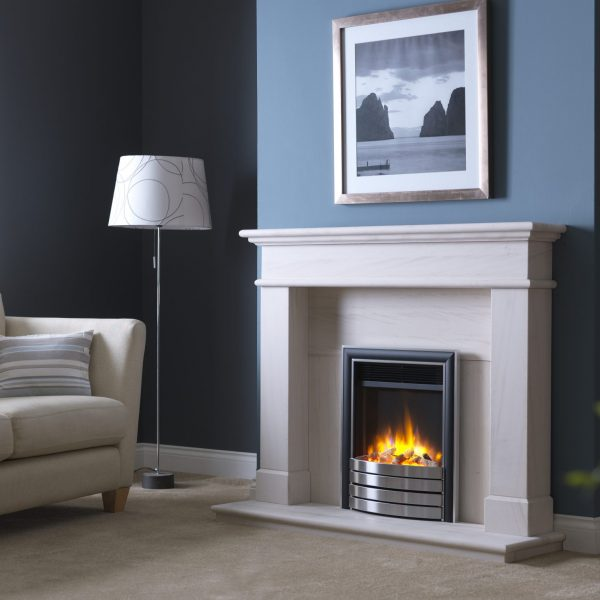 3D Ecoflame Electric Fire with Elite Fascia Satin in Balmoral