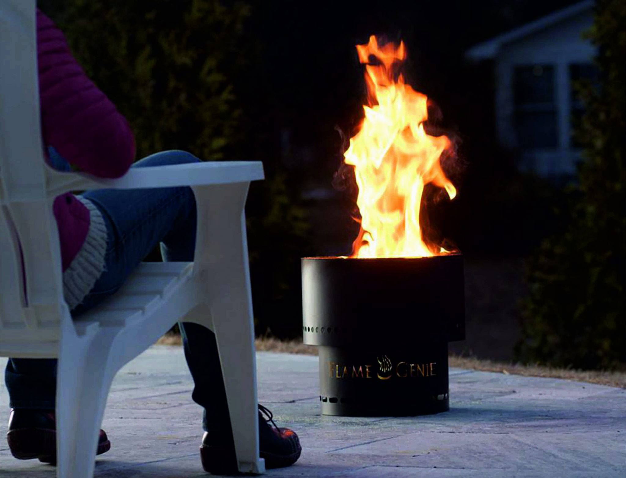 Flame Genie Outdoor Fire Bowl Stone And Fire